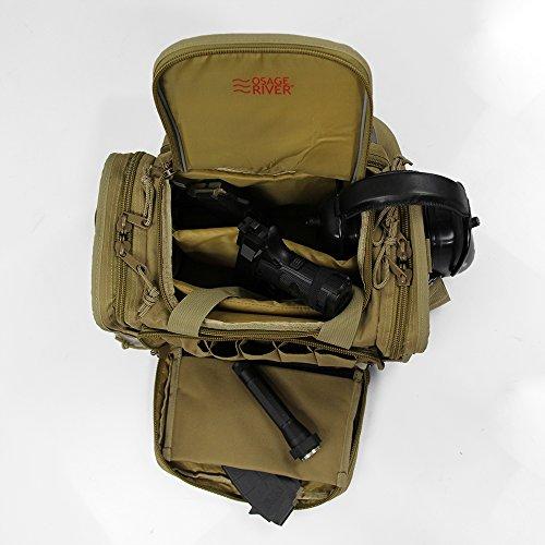 Osage River Tactical Shooting Gun Range Bag Coyote Tan Light Duty 13 5 X 10 5 X 7 5 Inches